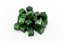 African Jade (Natural) Cube Gemstone Beads