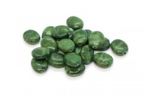African Jade (Natural) Flat Oval Gemstone Beads