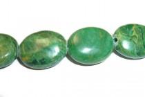 African Jade (natural) A grade Flat Oval Gemstone Beads