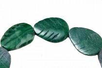 African Jade, Natural, A Grade, Leaf, Carved, Gemstone Beads