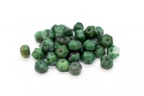 African Jade (Natural) Six Sided Drum Gemstone Beads