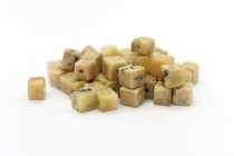 African Opal (Natural) Cube Gemstone Beads
