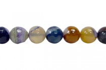 Agate (Dyed ) Faceted Disco Ball Cut Round Gemstone Beads - Purple,Greys,Browns