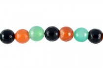Agate (Dyed ) Faceted Disco Ball Cut Round Gemstone Beads - Multi-Color