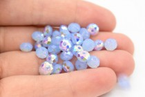 Air Blue Opal AB Swarovski Crystal Briolette Beads 5040