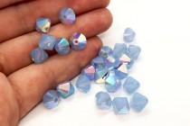 Air Blue Opal AB Swarovski Crystal Bicone Beads 5301/5328