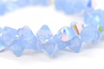 Air Blue Opal AB Swarovski Crystal Top Drilled Bicone Pendants 6301