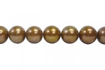 Almost Round / Potato Freshwater Pearls - Copper - 9mm