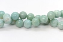 Amazonite (Natural) Smooth Round Gemstone Beads