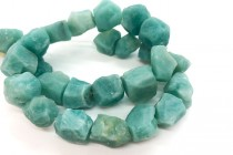 Amazonite (Natural) Rough Cut Nugget Gemstone Beads