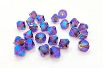 Amethyst AB2x Swarovski Crystal Bicone Beads 5301/5328