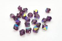 Amethyst AB Swarovski Crystal Bicone Beads 5301/5328