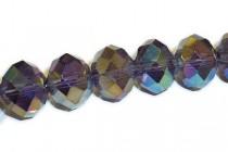 Purple ( Dark ) AB Chinese Crystal Rondelle Glass Beads