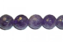 Amethyst (Natural) Round Disco Ball Cut Gemstone Beads