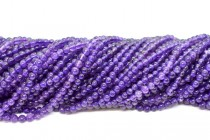 Amethyst (Natural) AB Grade Round Gemstone Beads
