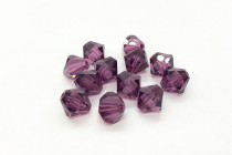 Amethyst Swarovski Crystal Bicone Beads 5301/5328 - Factory Pack Quantity