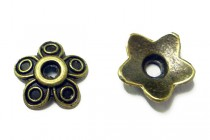 Antique Brass Bead Caps - Petals