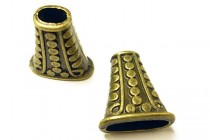 Antique Brass Bead Cap / cone - (Dots)