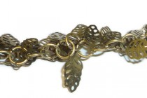 Antique Brass Dangling Leaf Chain - 5mm x 10mm