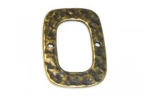 Antique Brass 2 Hole Rounded Rectangle Link 14mm x 22mm - JBB Findings