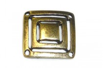 Antique Brass  4 Hole Square Link - JBB Findings