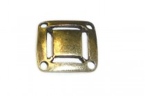 Antique Brass Over Brass 4 Hole Square Link - JBB Findings