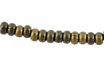 Antique Brass Plate over Pewter Spacer Beads - Wheel