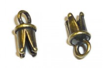 Antique Brass Pinch End with Loop - JBB Findings