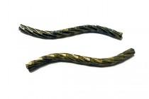 Antique Brass Curved Textured