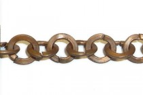 Antique Copper Rolo / Circle Flat Chain 6mm