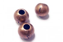 Antique Copper Over Brass Round Beads