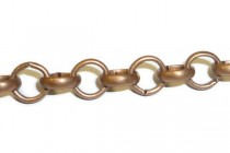 Antique Copper Over Brass Rolo / Circle Chain 6mm