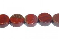 Apple Jasper ( Natural ) A Grade Coin / Dime Gemstone Beads