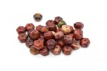 Apple Jasper (Natural) Six Sided Drum Gemstone Beads