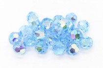 Aquamarine AB2x Swarovski Crystal Round Beads 5000 - Factory Pack