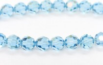 Aquamarine Champagne 5000 Swarovski &reg: Crystal with third-party coating,Round Bead