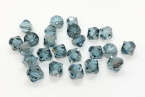 Aquamarine Satin Swarovski Crystal Bicone Beads 5301 - Factory Pack Quantity