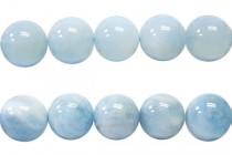 Aquamarine Natural AB Grade Round Gemstone Beads