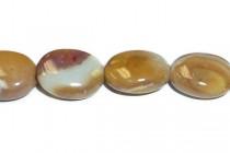 Australian Riverstone (Natural) Flat Oval Gemstone Beads