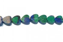 Azurite, Natural, A Grade, Heart Gemstone Beads