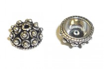 Sterling Silver Bali Style Bead Cap - 9mm