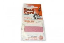 Griffin Natural Silk Bead Cord - Dark Pink