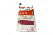 Griffin Garnet, Red, Silk Bead Cord