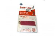 Griffin Natural Silk Bead Cord - Garnet Red