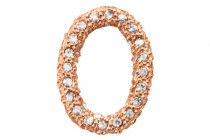 Rose Gold Plated Crystal Pave Oval Ring - Beadelle