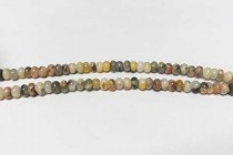 Crazy Lace Agate (Natural) Rondelle Gemstone Beads