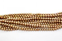 Golden Brown (Dyed) Potato Freshwater Pearl Beads