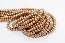 Button Freshwater Pearls - Beige