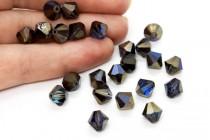 Crystal Bermuda Blue 5301/5328 Swarovski Crystal Bicone Bead
