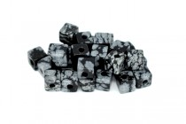 Snowflake Obsidian (Natural) Cube Gemstone Beads - Large Hole